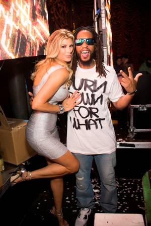 Alexis Bellino and Lil Jon at Surrender on Saturday, June 28, 2014, in Encore Las Vegas.