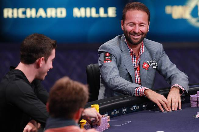 Daniel Negreanu smiles during the final table of the Big One For One Drop tournament at the World Series of Poker Tuesday, July 1, 2014 at the Rio. Daniel Colman took home first place and $15,306,668 in prize money.