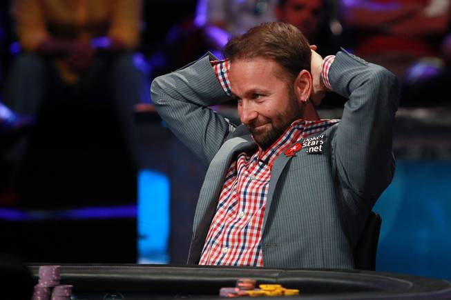 Daniel Negreanu waits on Daniel Colman during the final table of the Big One For One Drop tournament at the World Series of Poker Tuesday, July 1, 2014 at the Rio. Colman took home first place and $15,306,668 in prize money.