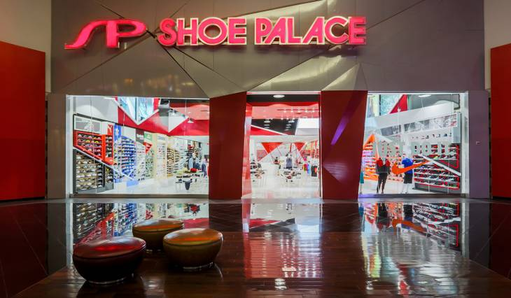 Shoe Palace at Miracle Mile Shops at Planet Hollywood Resort & Casino.
