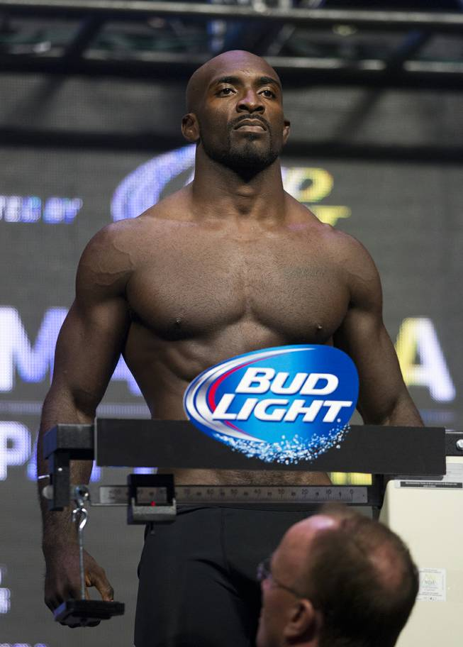 Middleweight Kevin Casey stands tall during the UFC 175 weigh ins at the Mandalay Bay Resort on Friday, July 4, 2014.