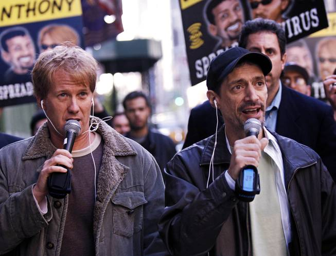 "Radio shock jocks Greg ""Opie"" Hughes and Anthony Cumia are shown in this April 26, 2006, file photo in New York."