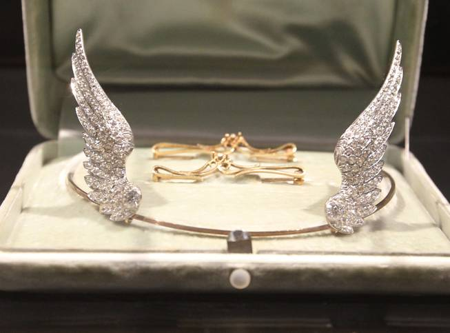 William McKinley Presidential Library and Museum places the Ida McKinley tiara on public display on Wednesday, July 2, 2014, in Canton, Ohio.