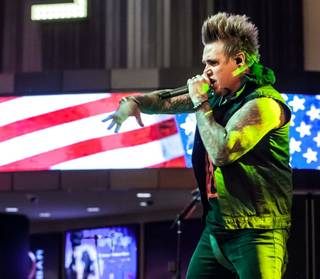 Papa Roach, P.O.D. and Lit at Rock of Vegas on Fremont Street on Friday, July 4, 2014, in downtown Las Vegas.