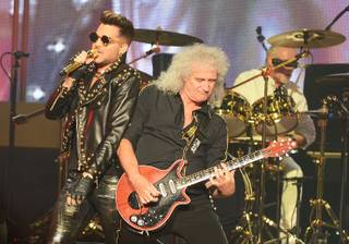 Queen (Brian May and Roger Taylor) + Adam Lambert perform at the Joint on Saturday, July 5, 2014, in Hard Rock Hotel Las Vegas.