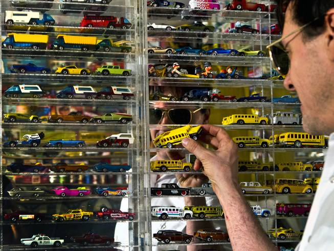 Jim Rogers is an avid collector with a significant amount of Matchbox cars on Friday, July 4, 2014.  L.E. Baskow