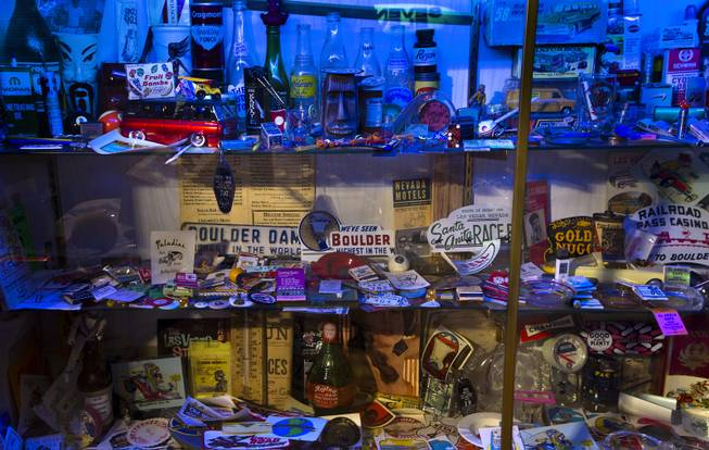 Jim Rogers is an avid collector.of all sorts of memorabilia, he place more like a museum on Friday, July 4, 2014.  L.E. Baskow