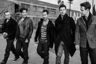 Donnie Wahlberg, Jonathan Knight, Danny Wood, Jordan Knight and Joe McIntyre of New Kids on the Block.