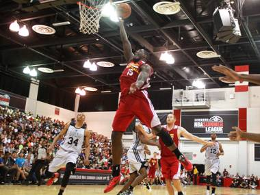 The Canadian prodigy returned to UNLV's campus for the NBA Summer League.