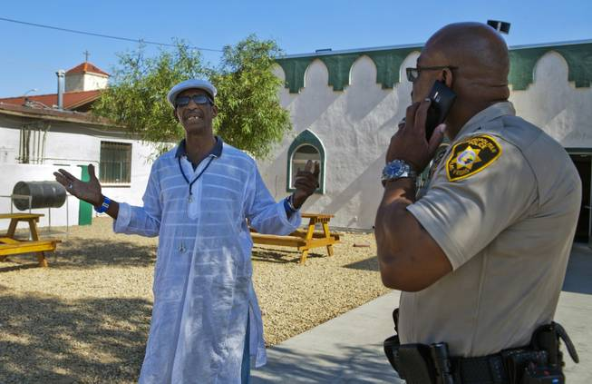 Capt. Will Scott of the Las Vegas Metro Police Department's Bolden Area Command visits the Masjid As-Sabur on Thursday, June 5, 2014.