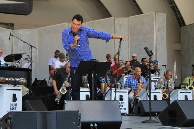 "Clint Holmes and friends rehearse for ""To Ella With Love"" at the Hollywood Bowl on Wednesday, July 9, 2014, in Los Angeles."