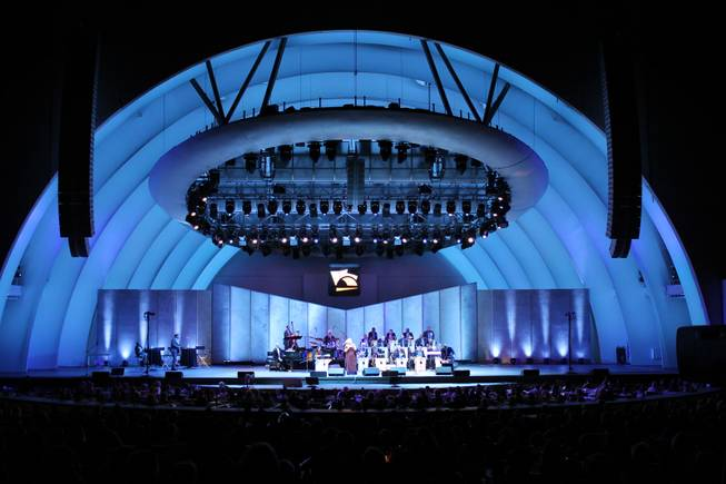 "Patti Austin takes center stage in ""To Ella With Love"" at the Hollywood Bowl on Wednesday, July 9, 2014, in Los Angeles."