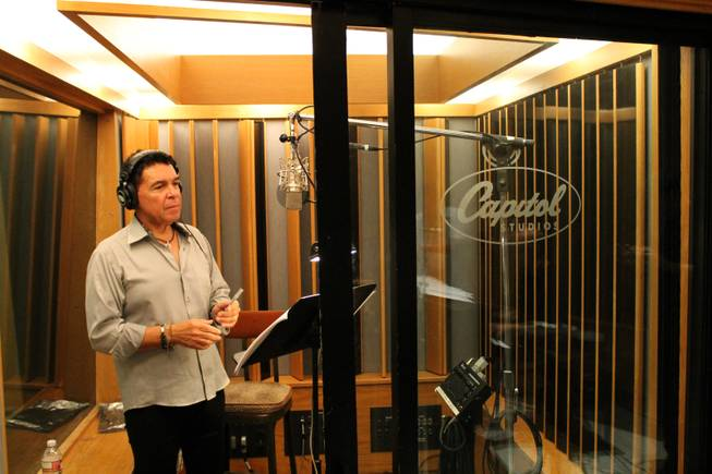 "Clint Holmes and members of the Count Basie Orchestra record an upcoming album in Studio A, aka the ""Grammy Studio,"" at Capitol Records on Thursday, July 10, 2014, in Los Angeles."