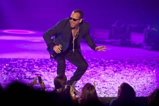 Donnie Wahlberg of New Kids on the Block performs in the Axis at Planet Hollywood on Thursday, July 10, 2014.