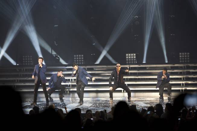 New Kids on the Block performs in the Axis at Planet Hollywood on Thursday, July 10, 2014.