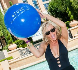 Jenny McCarthy hosts at Azure Luxury Pool on Friday, July 11, 2014, at Palazzo.
