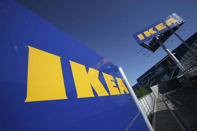 The Ikea logo is shown on the side of the warehouse-sized store during the grand opening of New York City's first Ikea on Wednesday, June 18, 2008, in the Red Hook section of Brooklyn. The company plans to open its first Nevada store in the Las Vegas-area.