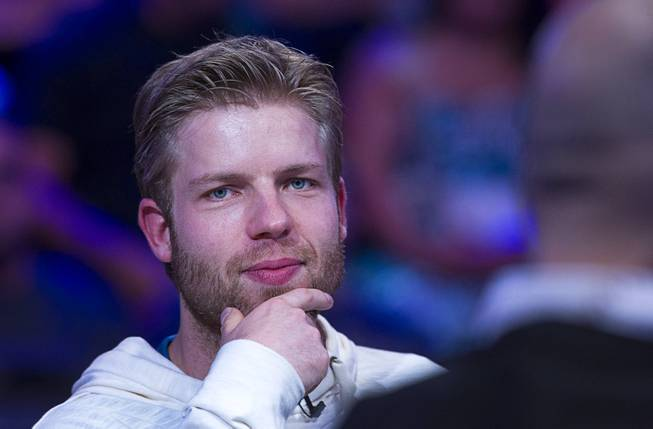 Jorryt van Hoof of the Netherlands competes during the World Series of Poker $10,000 buy-in No-limit Texas Hold 'em main event at the Rio, July 14, 2014. Van Hoof made it to the final table.