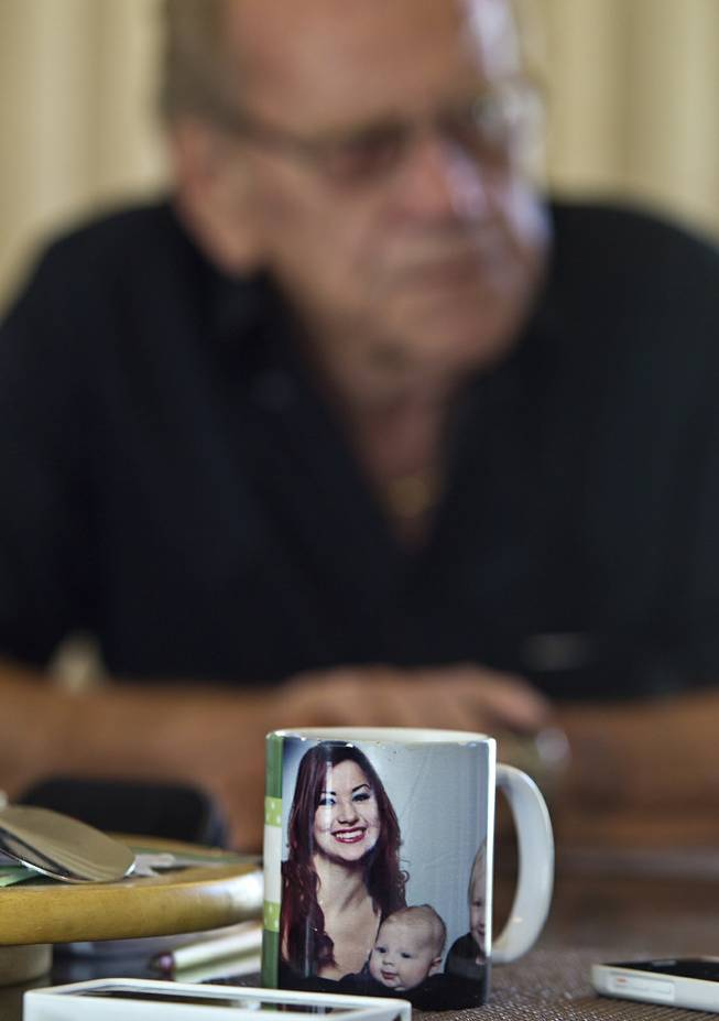 Niece's portrayed on Robert Rolain's coffee cup as he talks about his wife Linda who just passed away after brain surgery in May and wasn't able to recover on Wednesday, June 25, 2014.  She should have had surgery much sooner but due to the problems on the exchange she wasn't able to receive insurance until mid May.