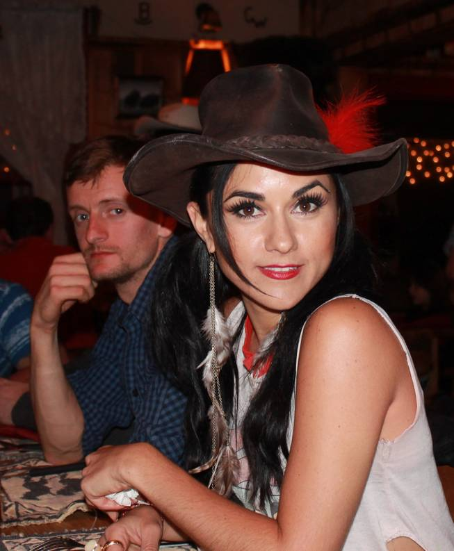 "Dinner at the lodge after a day of shooting with Misha ""10-Pack"" Furmanczyk and Melody Sweets during the video shoot for Sweets' ""Shoot 'em Up"" at Grand Canyon Ranch on April 22, 2014."