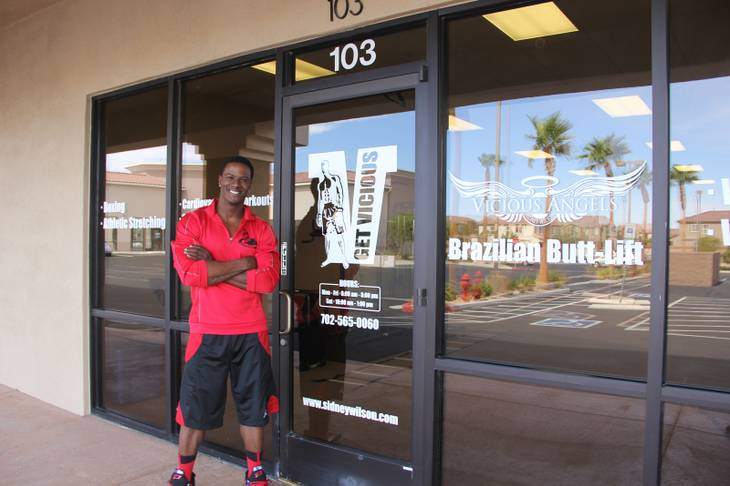 Owner and personal trainer Sidney Wilson at Get Vicious Training Center, located at 5693 South Jones Blvd., Suite 103, Las Vegas.