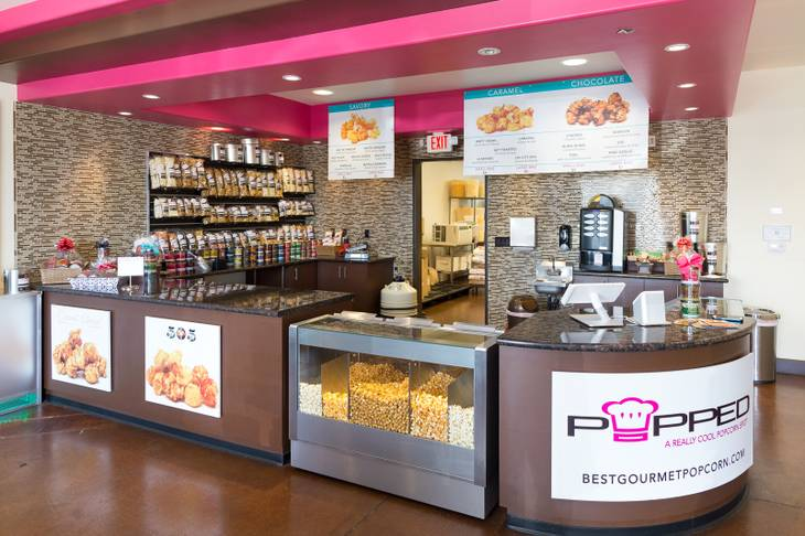 Popped gourmet popcorn store at 3700 S. Hualapai Way, Unit 108, Las Vegas.