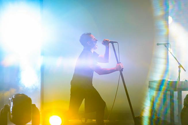 Trent Reznor of Nine Inch Nails performs Saturday, July 19, 2014, at Axis at Planet Hollywood.