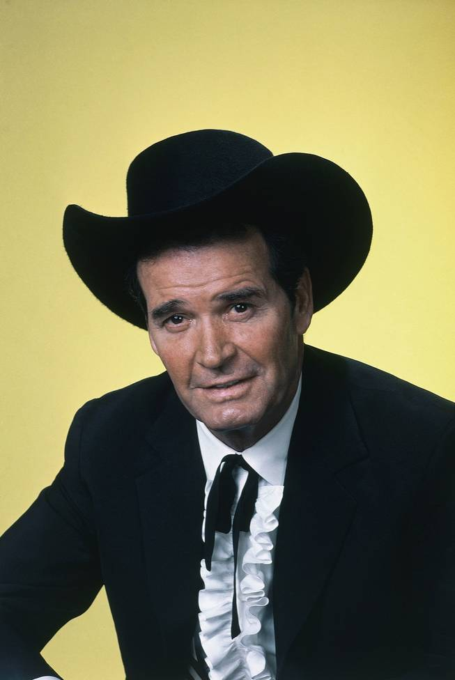 "Actor James Garner is shown in character in this April 7, 1982, file photo. Garner, wisecracking star of TV's ""Maverick"" who went on to a long career on both small and big screen, died Saturday, July 19, 2014, according to Los Angeles police. He was 86."