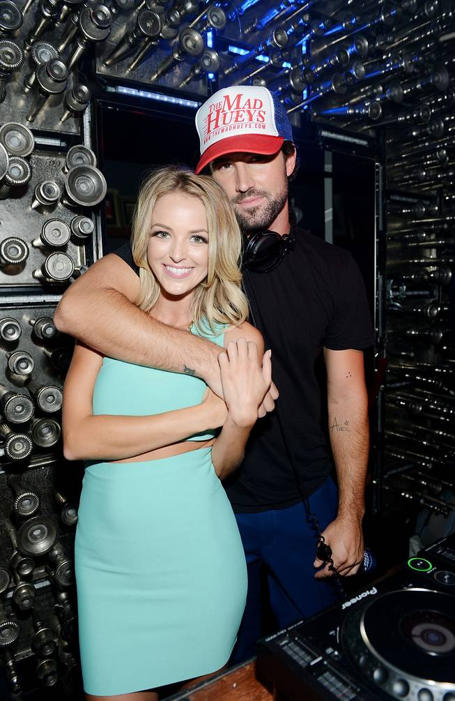 Brody Jenner, with girlfriend Kaitlynn Carter, makes his DJ debut Friday, July 18, 2014, at Hyde Bellagio.