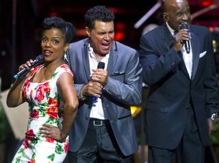 Singers Nnenna Freelon, Clint Holmes and a Take 6 member perform as The Venetian Las Vegas announces the engagement of