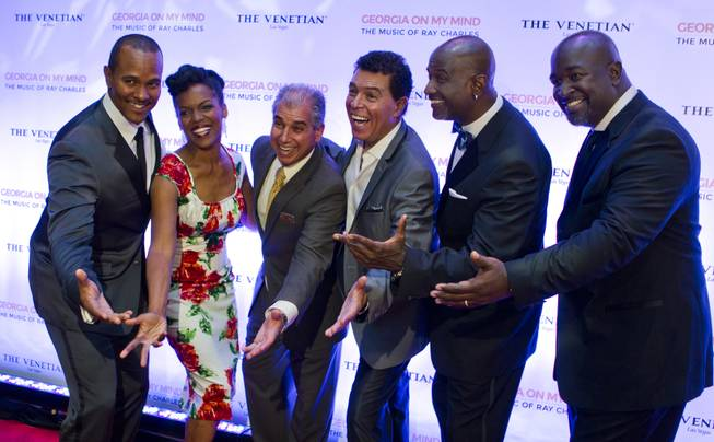 "Take 6 members, Nnenna Freelon, John Caperella and Clint Holmes have fun on the red carpet as The Venetian Las Vegas announces the engagement of ""Georgia On My Mind: The Music of Ray Charles"" on Tuesday, July 22, 2014."