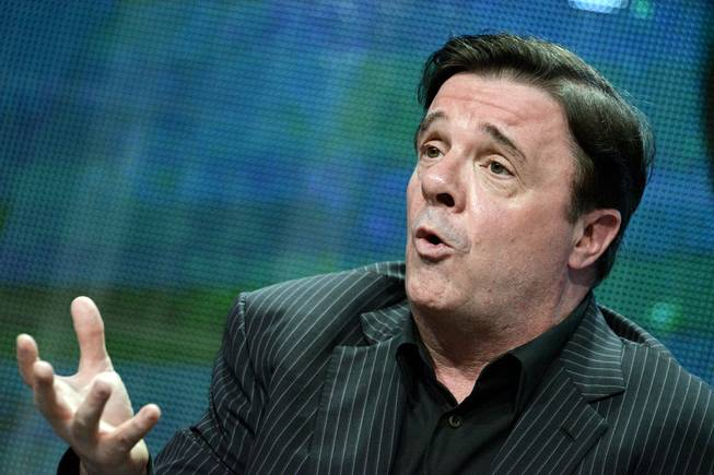 "Nathan Lane speaks on stage during the Live from Lincoln Center, ""The Nance"" panel, at the the PBS 2014 Summer TCA held at the Beverly Hilton Hotel on Tuesday, July 22, 2014, in Beverly Hills, Calif."