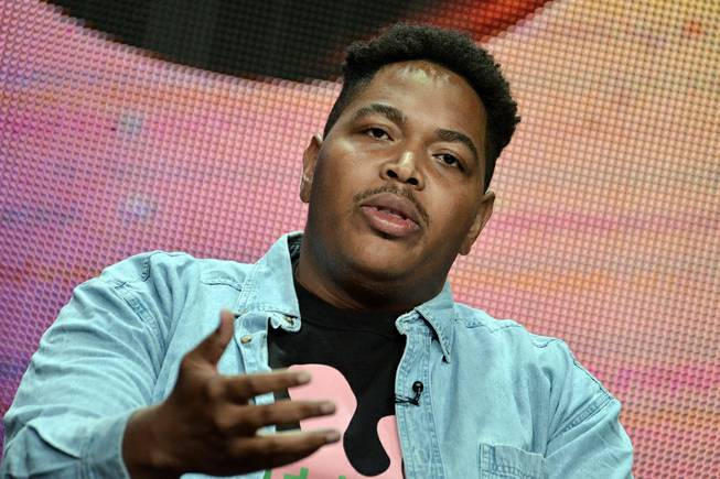 "Darius Monroe speaks on stage during the Independent Lens, ""Evolution of a Criminal"" panel, at the the PBS 2014 Summer TCA held at the Beverly Hilton Hotel on Tuesday, July 22, 2014, in Beverly Hills, Calif."