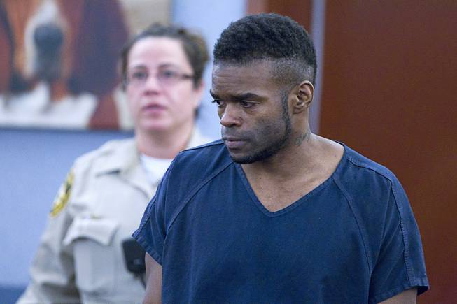 "Jason Griffith arrives for sentencing at the Regional Justice Center Wednesday, July 23, 2014. The former Las Vegas Strip performer was found guilty of second-degree murder in the 2010 death and dismemberment of his ex-girlfriend Deborah Flores Narvaez, a dancer in Luxor's topless ""Fantasy"" revue."