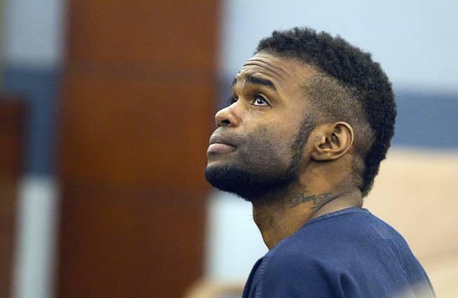 "Jason Griffith appears in court during sentencing at the Regional Justice Center Wednesday, July 23, 2014. The former Las Vegas Strip performer was found guilty of second-degree murder in the 2010 death and dismemberment of his ex-girlfriend Deborah Flores Narvaez, a dancer in Luxor's topless ""Fantasy"" revue."