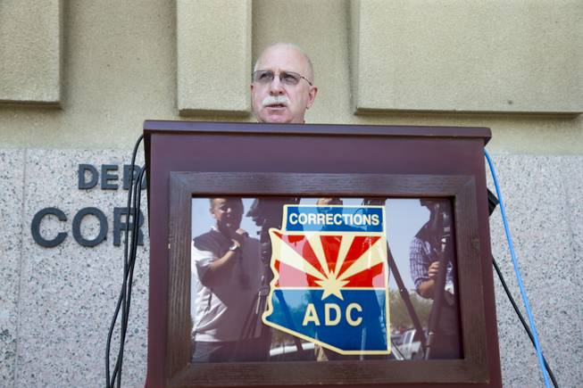 Arizona Department of Correction Director Charles Ryan talks about the review of the execution of Joseph Rudolph Wood in Phoenix on Thursday, July 24, 2014.