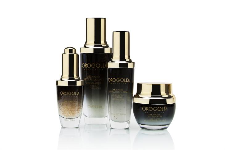 The Nano four-bottle set from Orogold Cosmetics.