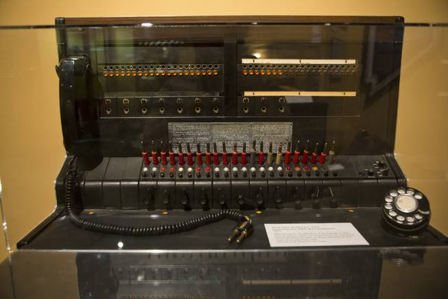 "A Western Electric Switchboard from the 1950's is on display at the ""Every Age is an Information Age"" exhibit at the Nevada State Museum, Friday July 25, 2014. The exhibit shows 150 years of communication technology in Nevada."