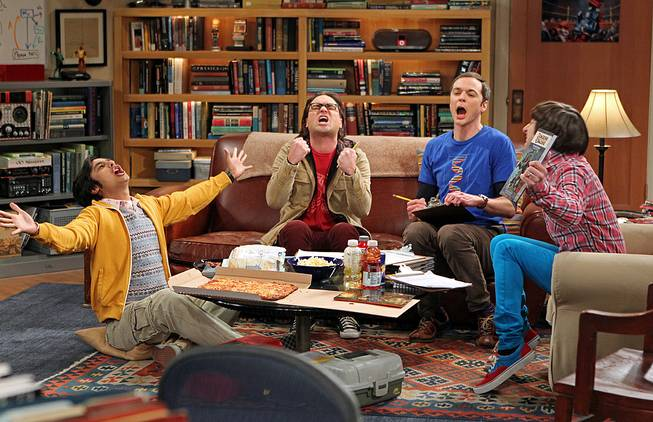 "Kunal Nayyar, Johnny Galecki, Jim Parsons and Simon Helberg in ""The Big Bang Theory"" on CBS."