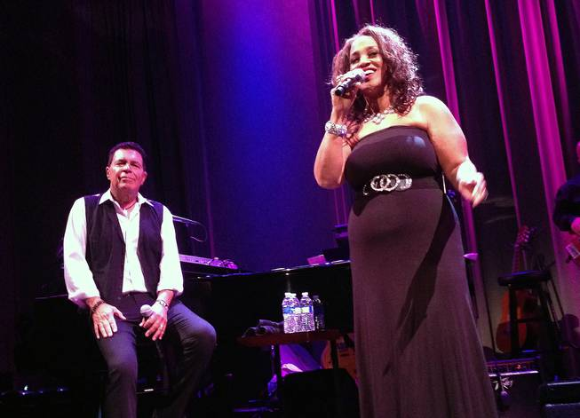 "Clint Holmes sings ""How High the Moon"" with Michelle Johnson at Cabaret Jazz at the Smith Center on Sunday, Aug. 3, 2014."