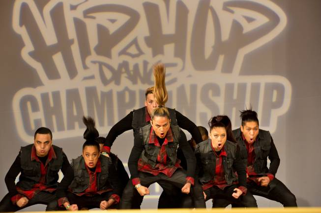 Militia of New Zealand performs during the preliminary round of the World Hip-Hop Dance Championships at Red Rock Resort on Wednesday, Aug. 6, 2014, in Las Vegas.