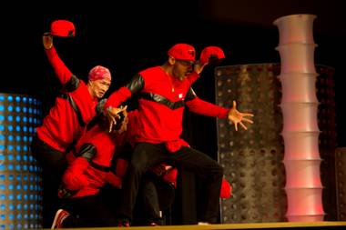 9-1 Pact of France performs during the preliminary round of the World Hip-Hop Dance Championships at Red Rock Resort, Las Vegas, Wed Aug. 6, 2014.