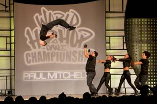 No Escape of Netherlands performs during the preliminary round of the World Hip-Hop Dance Championships at Red Rock Resort, Las Vegas, Wed Aug. 6, 2014.