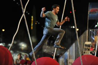 "Alex Kane competes on NBC's ""America Ninja Warrior"" Season 5 in Las Vegas."