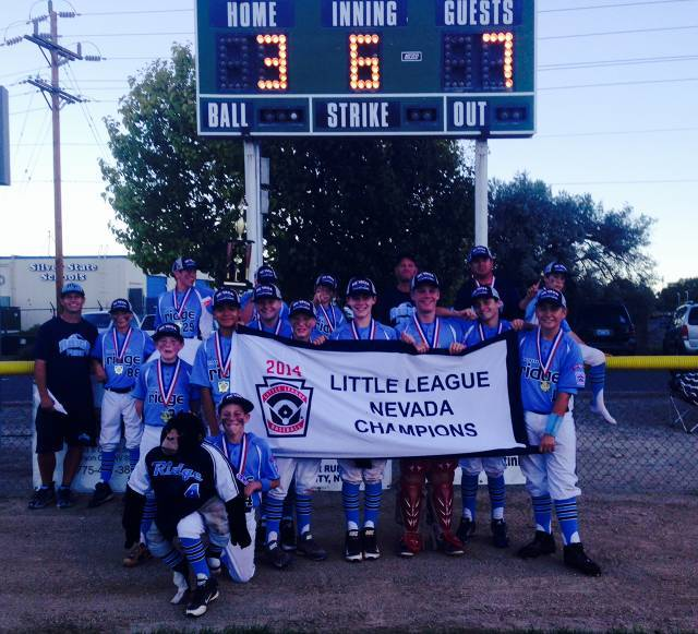 A team photo of the Mountain Ridge Little League all-star team after winning the Nevada state tournament. It became the first Nevada league to reach the Little League World Series.