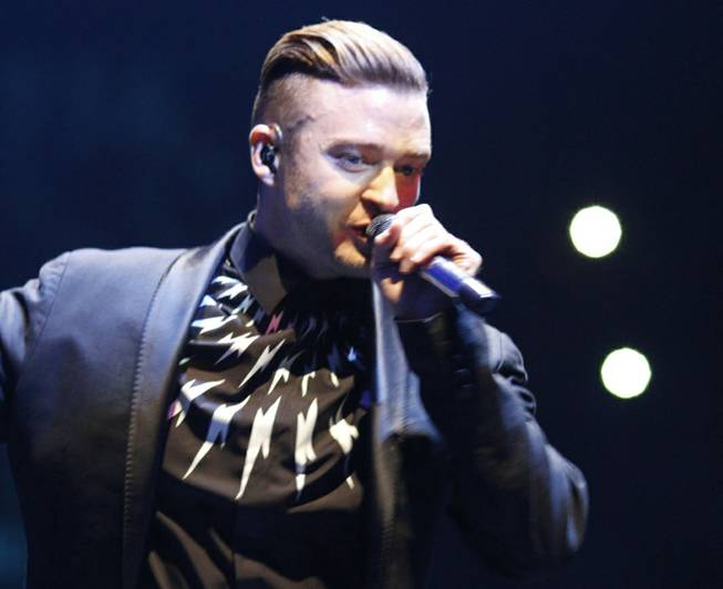 "Justin Timberlake's ""The 20/20 Experience World Tour"" stop at MGM Grand Garden Arena on Friday, Aug. 8, 2014, in Las Vegas."