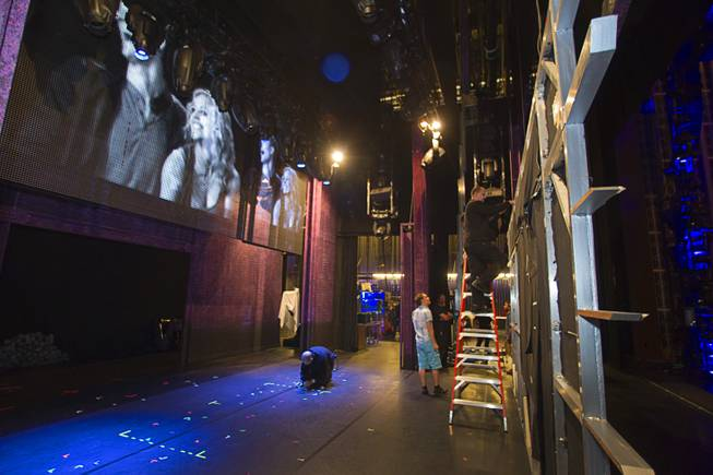 "Workers get ready for the company's 299th performance during a backstage tour of ""Ghost The Musical"" at the Smith Center for the Performing Arts Wednesday Aug. 13, 2014. The musical runs through Sunday, Aug. 17."