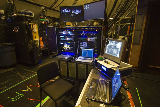 "A view of the video control center during a backstage tour of ""Ghost The Musical"" at the Smith Center for the Performing Arts Wednesday Aug. 13, 2014. The musical runs through Sunday, Aug. 17."