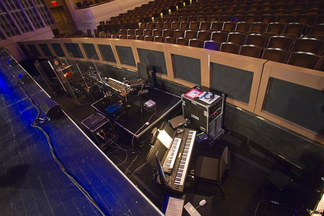 "A view of the orchestra pit during a backstage tour of ""Ghost The Musical"" at the Smith Center for the Performing Arts Wednesday Aug. 13, 2014. The musical runs through Sunday, Aug. 17."