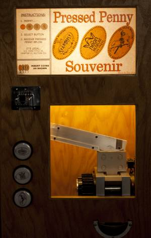 Pressed Penny Machine at the Neon Museum in Las Vegas, Nevada.